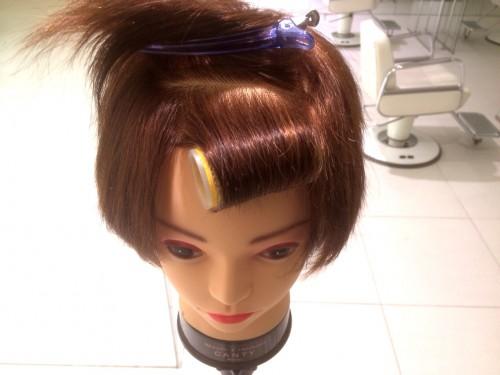前髪流し方