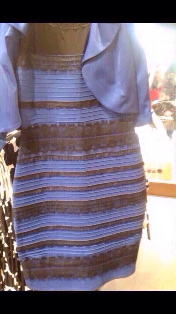 青黒に見える人は、『このドレスがある部屋全体が明るい』と脳が捉えてて、本来のドレスの色が見えてる人。