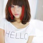 ミディアムヘアのスタイル写真に、ペンを入れて解説します☆