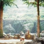山と海が隣同士で楽しめるんですね(OvO)高崎山&うみたまご☆
